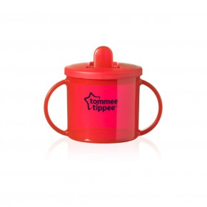 Tommee Tippee Чаша Essential Basics First Cup 4m+ червена