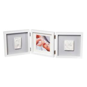 Baby Art My Baby Style Grey рамак за отпечатък за краче и ръчичка и място за снимка