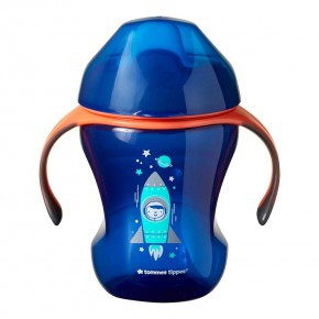 Tommee Tippee Неразливаща чаша с мек накрайник 230ml 6m+ синя