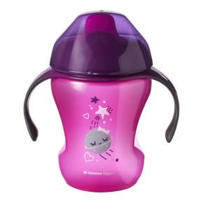 Tommee Tippee Неразливаща чаша с мек накрайник 230ml 6m+ розова