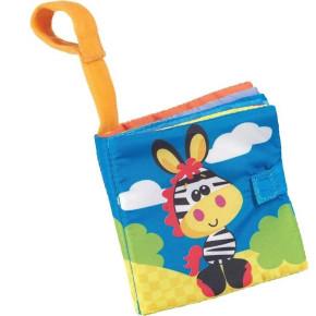 Playgro Buggy Book Clip Strip мека книжка за количка - Zebra 0153