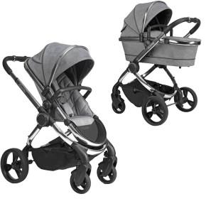 iCandy Peach 6 бебешка количка 2 в 1 Chrome Light Grey Check