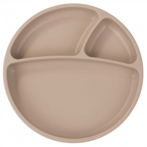 Minikoioi Portions силиконова чиния с вакуум - Bubble Beige
