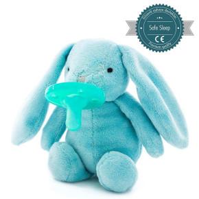 Minikoioi Sleep Buddy мека играчка със залъгалка - Blue Bunny