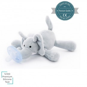 Minikoioi Sleep Buddy мека играчка със залъгалка - Elephant
