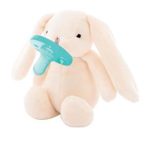 Minikoioi Sleep Buddy мека играчка със залъгалка - White Bunny