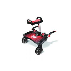 Lascal Buggy Board Maxi with Saddle Универсална Степенка за второ дете Макси със седалка - Червен/Червен