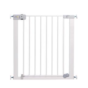 Safety 1st Универсална метална преграда за врата с механизъм за автомат.заключване - бяла