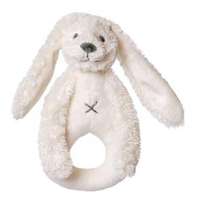 Happy Horse плюшена играчка зайчето Richie дрънкалка - бяло