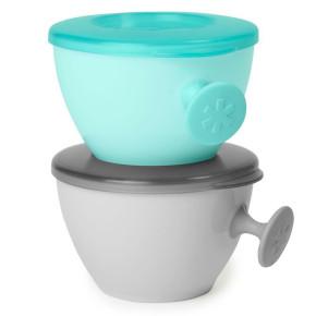 Купички за съхранение на бебешка храна SkipHop Easy-Grab Bowls Teal