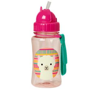 Skip Hop Детска бутилка със сламка Zoo – ламата Луна
