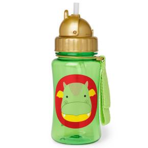 Skip Hop Детска бутилка със сламка Zoo – дракончето Дилън