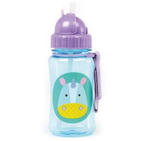 Skip Hop Детска бутилка със сламка Zoo – еднорогът Юрика