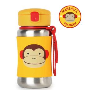 Skip Hop бутилка със сламка от неръждаема стомана маймунката Маршал 252512
