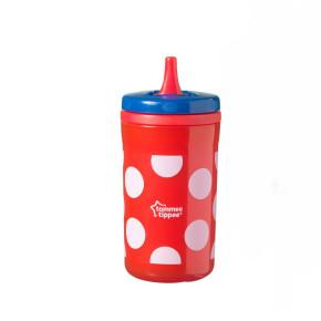 Tommee Tippee - Free Flow Insulated Big Chill - чаша съ сгъваем накрайник 18 м+, 380 мл червена