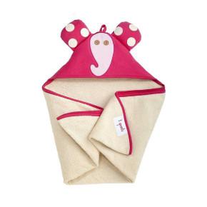 3Sprouts бебешка кърпа с качулка - Elephant
