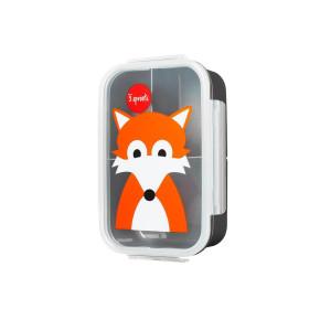 3 Sprouts кутия за храна с три отделения - Fox