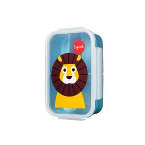 3 Sprouts кутия за храна с три отделения - Lion