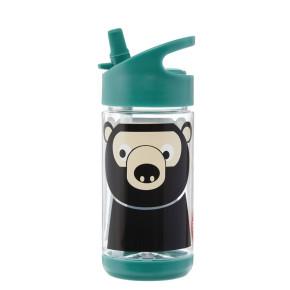 3 Sprouts бутилка за вода с мек накрайник - Bear