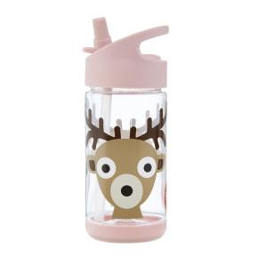 3 Sprouts бутилка за вода с мек накрайник - Deer