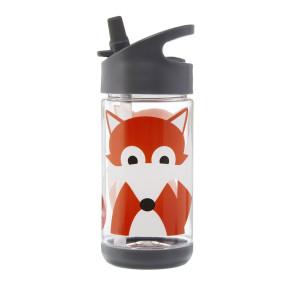 3 Sprouts бутилка за вода с мек накрайник - Fox
