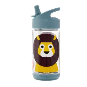 3 Sprouts бутилка за вода с мек накрайник - Lion