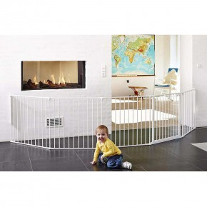 BabyDan Flex™ XXL модулна преграда - White