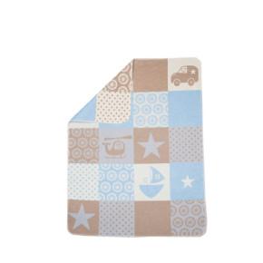 """David Fussenegger Juwel """"Звезди"""" бебешко одеяло - светлосиньо - 70 x 90 см"""