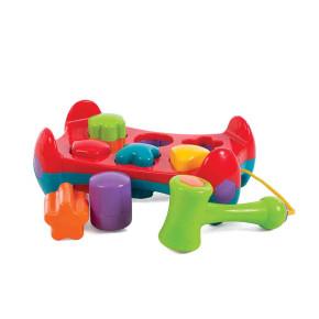 Активна играчка с форми за подреждане и чук Shape Sorting Tray Playgo Jerry's Class