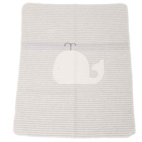 """David Fussenegger Juwel бебешко памучно одеяло """"кит"""" -сиво - многофункционално, 6801-97"""