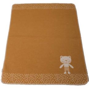"""David Fussenegger Juwel """"Мече"""" бебешко одеяло - оранжево- 70 x 90 см"""