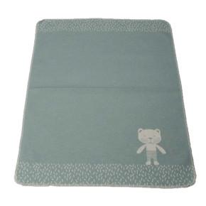 """David Fussenegger Juwel """"Мече"""" бебешко одеяло - зелено- 70 x 90 с"""