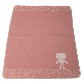 """David Fussenegger Juwel """"Мече"""" бебешко одеяло - розово- 70 x 90 см"""