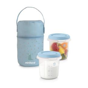 Miniland Baby Комплект контейнери Pack-2-Go - светло син