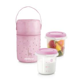 Miniland Baby Комплект контейнери Pack-2-Go - светло розов