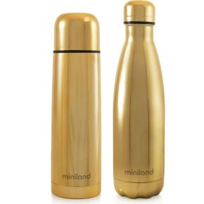 Miniland Baby myBaby&me комплект термос и бутилка - 500 мл - Gold