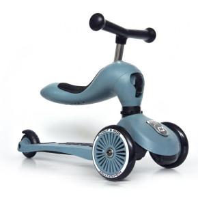 Scoot and Ride Тротинетка/колело за баланс 2 в 1 Highwaykick 1 Steel