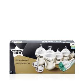 Tommee Tippee Комплект за новородено + четка за шишета