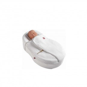 Red Castle Cocoonacover памучно одеяло за CocoonaBaby Nest TOG 0.5 - White