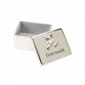 The Juliana Collection Посребрена кутийка за зъбче First Tooth Box