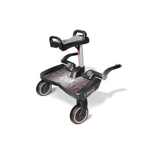 Lascal Buggy Board Maxi with Saddle Универсална Степенка за второ дете Макси със седалка - Черен/Сив 1