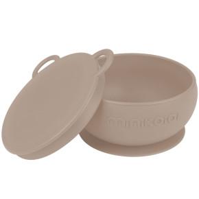 Minikoioi Bowly силиконова купа с вакуум и капак - Bubble Beige