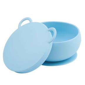 Minikoioi Bowly силиконова купа с вакуум и капак - Blue