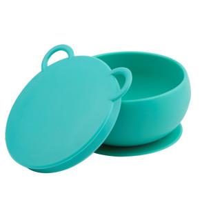 Minikoioi Bowly силиконова купа с вакуум и капак - Green