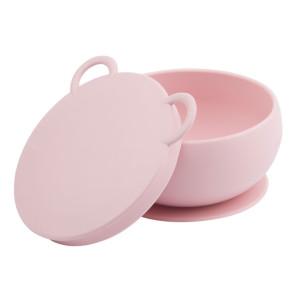 Minikoioi Bowly силиконова купа с вакуум и капак - Pink