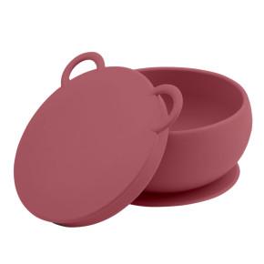 Minikoioi Bowly силиконова купа с вакуум и капак - Rose