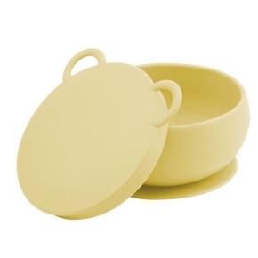 Minikoioi Bowly силиконова купа с вакуум и капак - Yellow