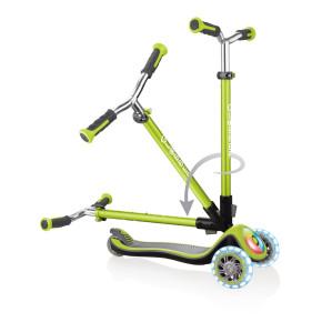 Globber Elite Prime тротинетка със светещи колела и палуба - Lime Green