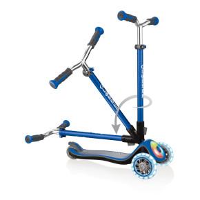 Globber Elite Prime тротинетка със светещи колела и палуба - Navy Blue