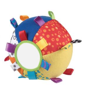 Playgro Звъняща мека топка с етикети